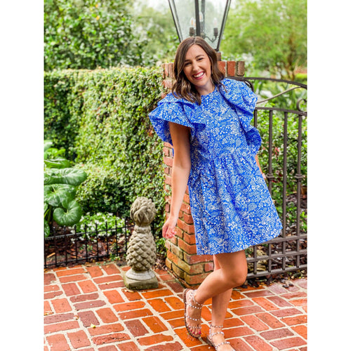 8.28 BoutiqueDressThe Lori Blue Floral Dress