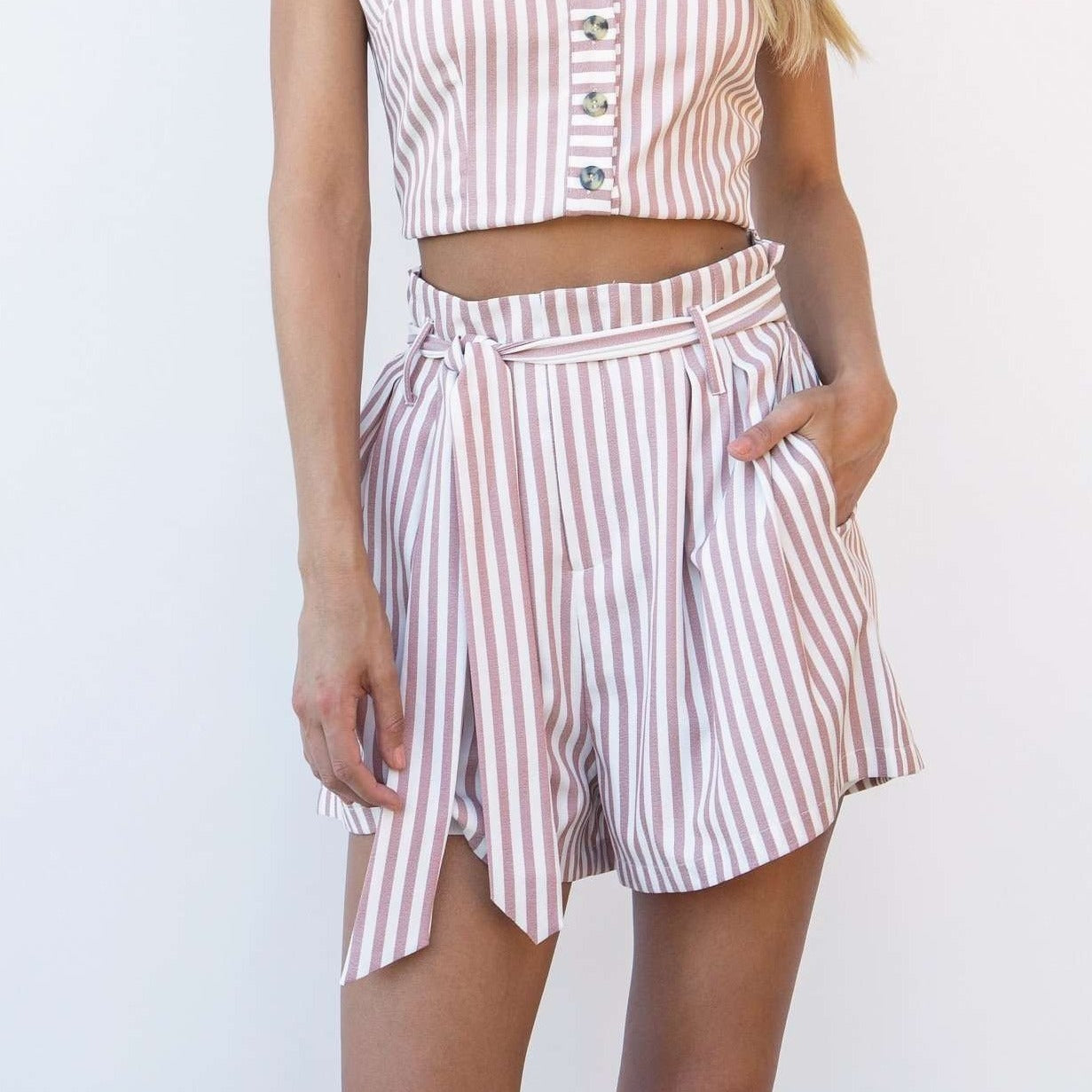 8.28 Boutique:Bishop + Young,Bishop + Young Sierra Stripe Shorts,Bottoms