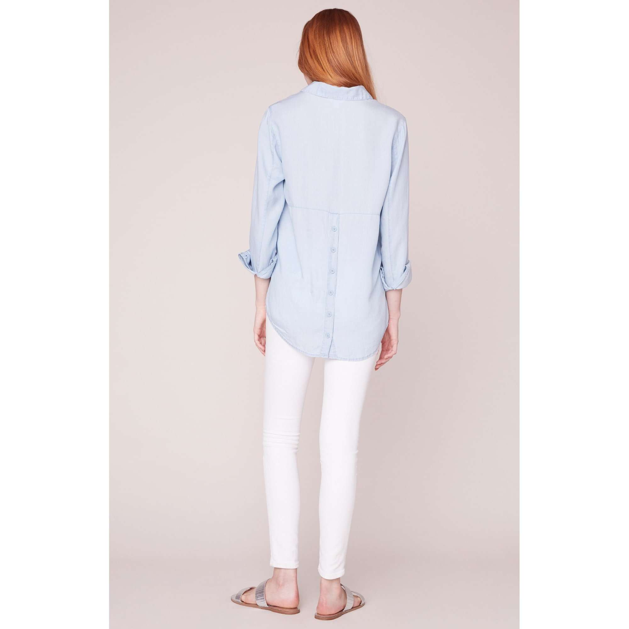 8.28 Boutique:Jack by BB Dakota,Jack by BB Dakota Wash My Worries Chambray Top,Tops