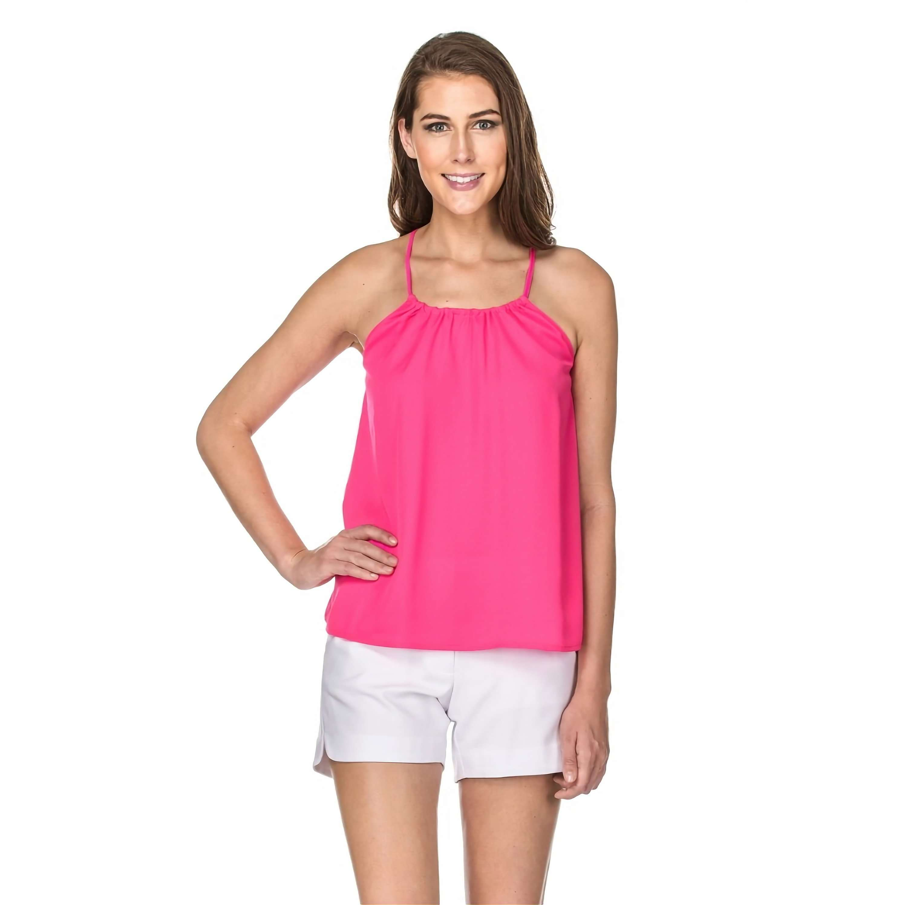 8.28 Boutique:JADE,Jade by Melody Tam Make a Statement Hot Pink Tank,Tops