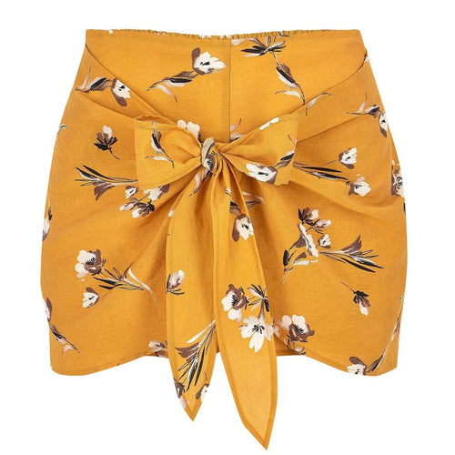 8.28 Boutique:Bishop + Young,Bishop + Young Caroline Yellow Floral Shorts,Bottoms