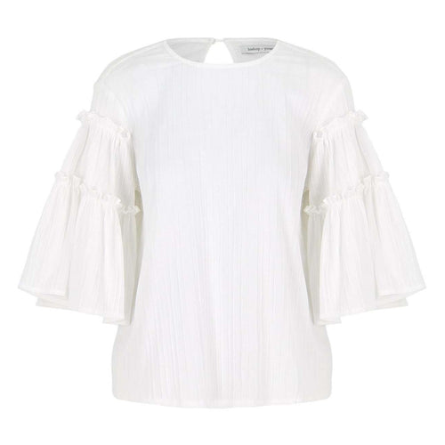 8.28 Boutique:Bishop + Young,Bishop + Young Live in White Flare Sleeve Top,Tops