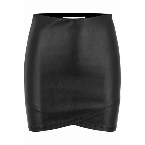 8.28 Boutique:Bishop + Young,Bishop + Young Black Faux Leather Mini Skirt,Bottoms
