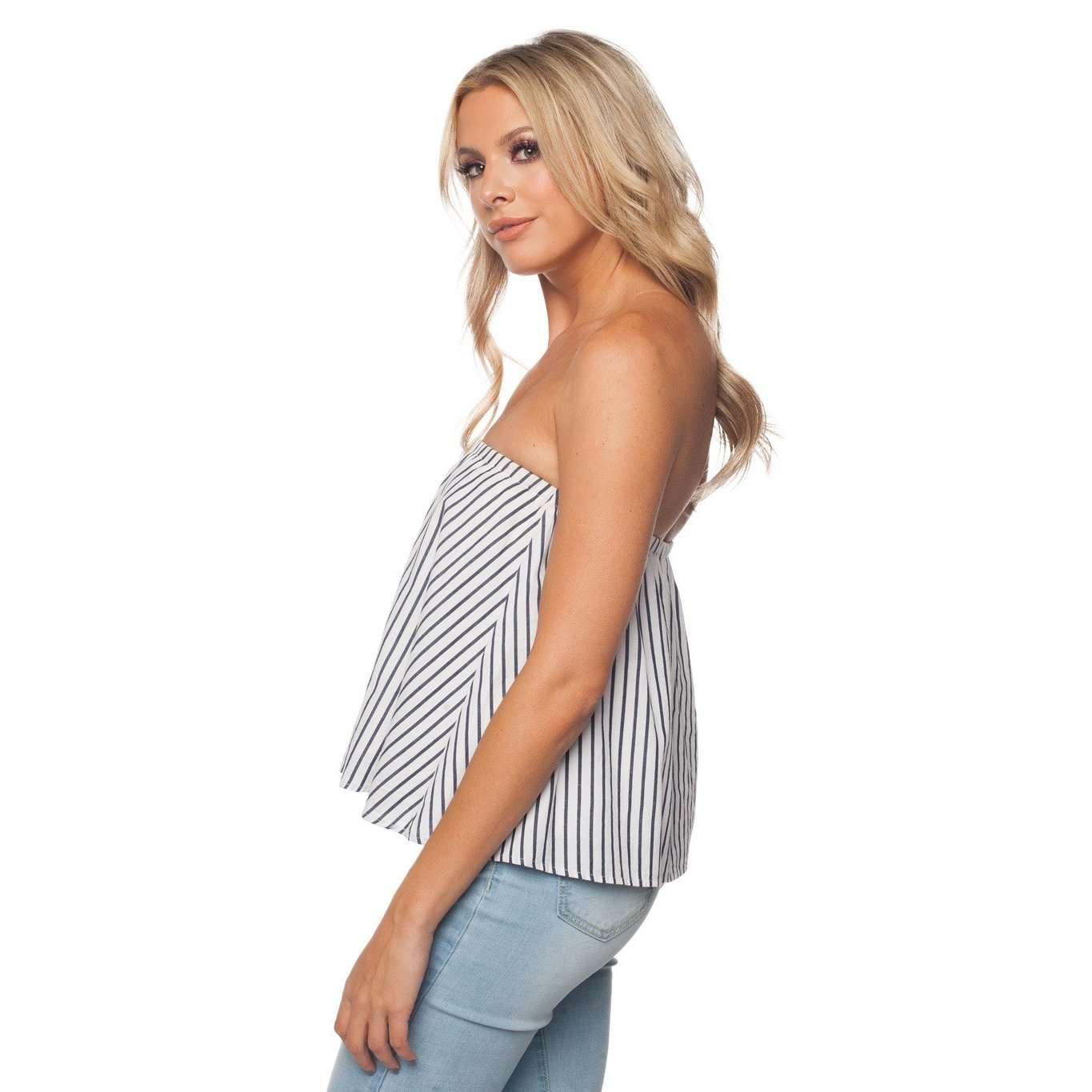 8.28 Boutique:Buddy Love,Buddy Love Staniel Stripe Shirt,Tops