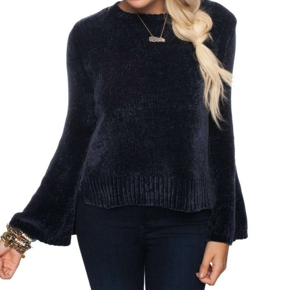 8.28 Boutique:Buddy Love,Buddy Love Diane Slate Bell Sleeve Sweater,Sweaters