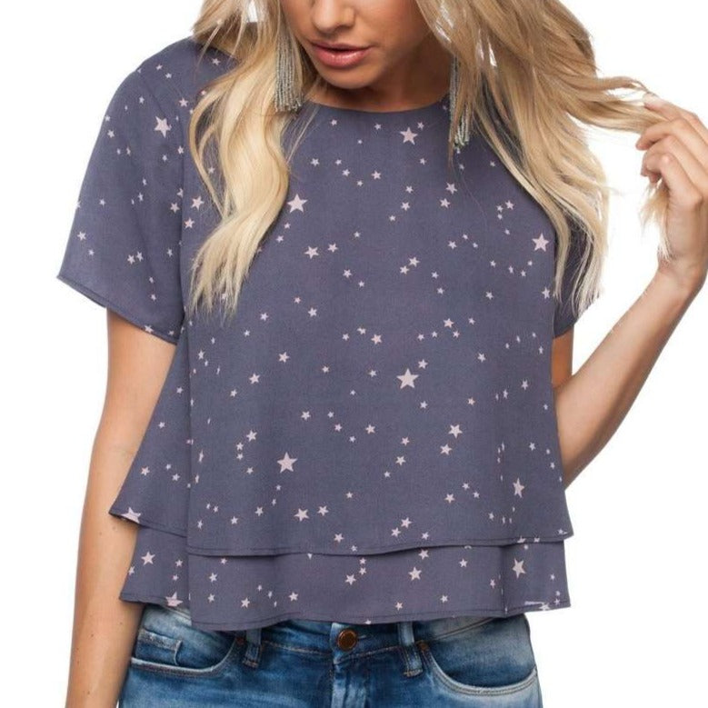 8.28 Boutique:Buddy Love,Buddy Love Galaxy Star Top,Tops