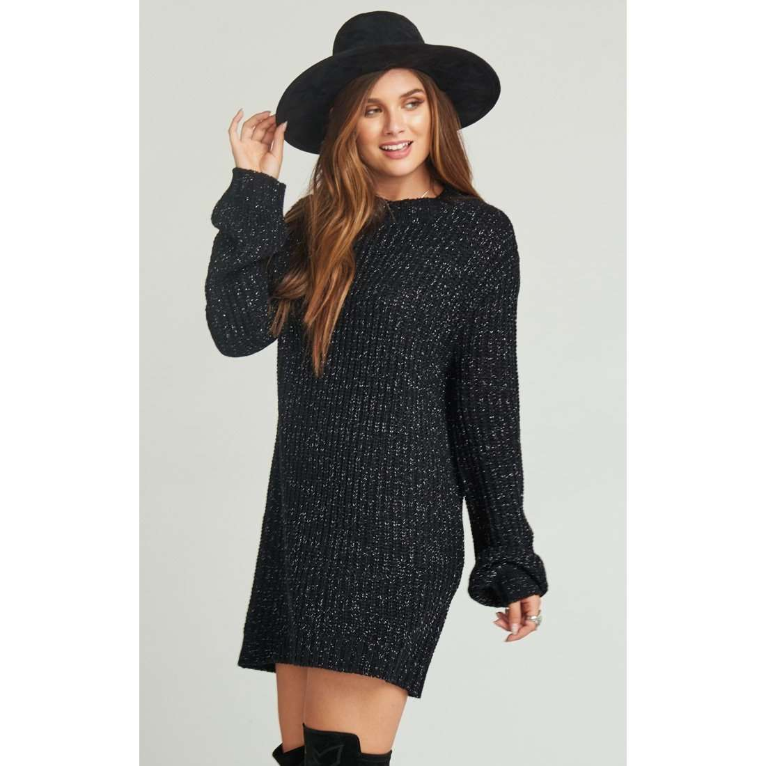 8.28 Boutique:Show Me Your Mumu,Show Me Your Mumu Albert Black Sweater Dress,Dress