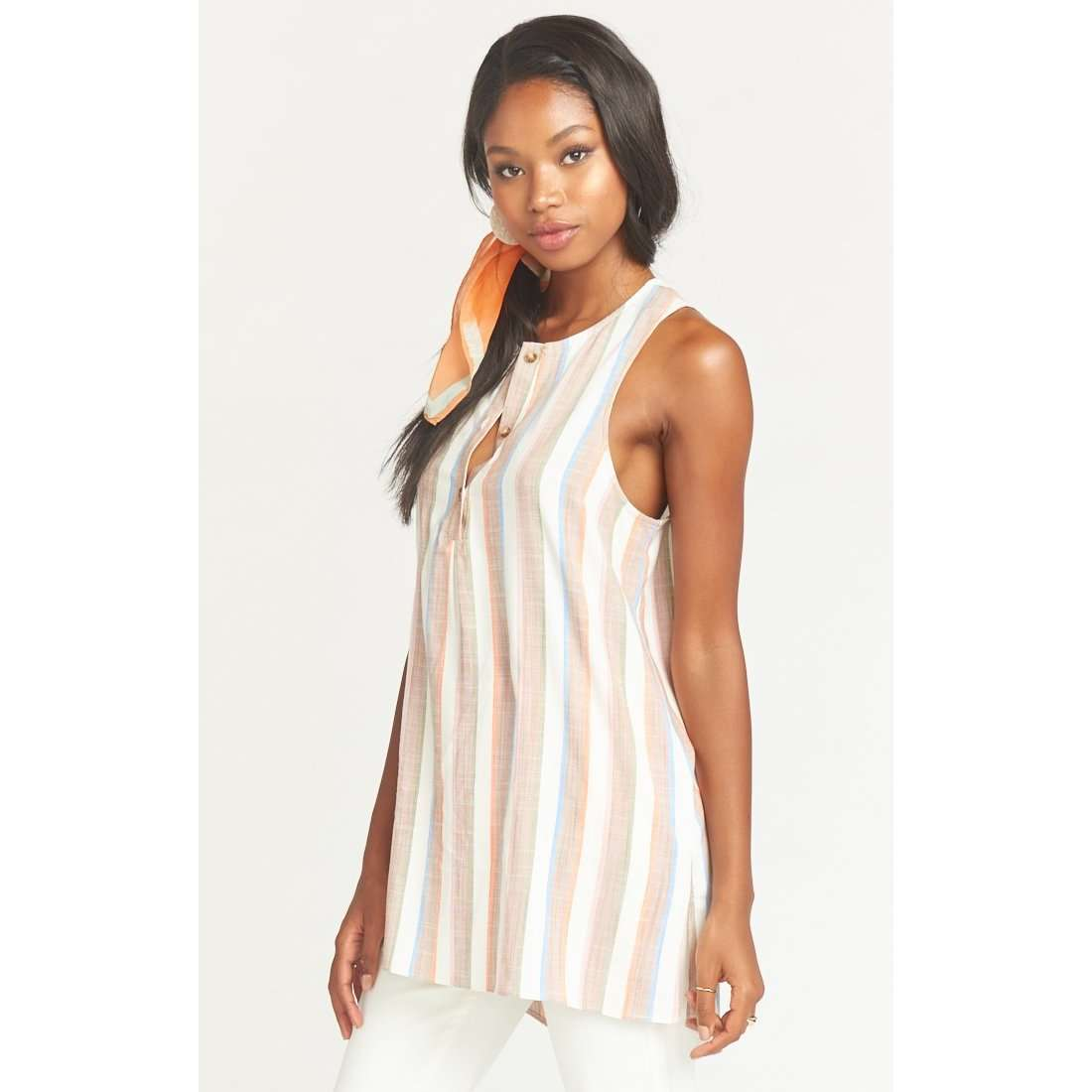 8.28 Boutique:Show Me Your Mumu,Show Me Your Mumu Tawny Shorebert Stripe Tunic,Tops