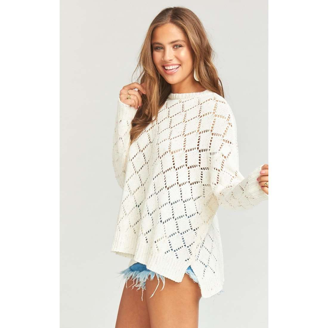 8.28 Boutique:Show Me Your Mumu,Show Me Your Mumu Hattie Summer Confetti Knit Sweater,Tops
