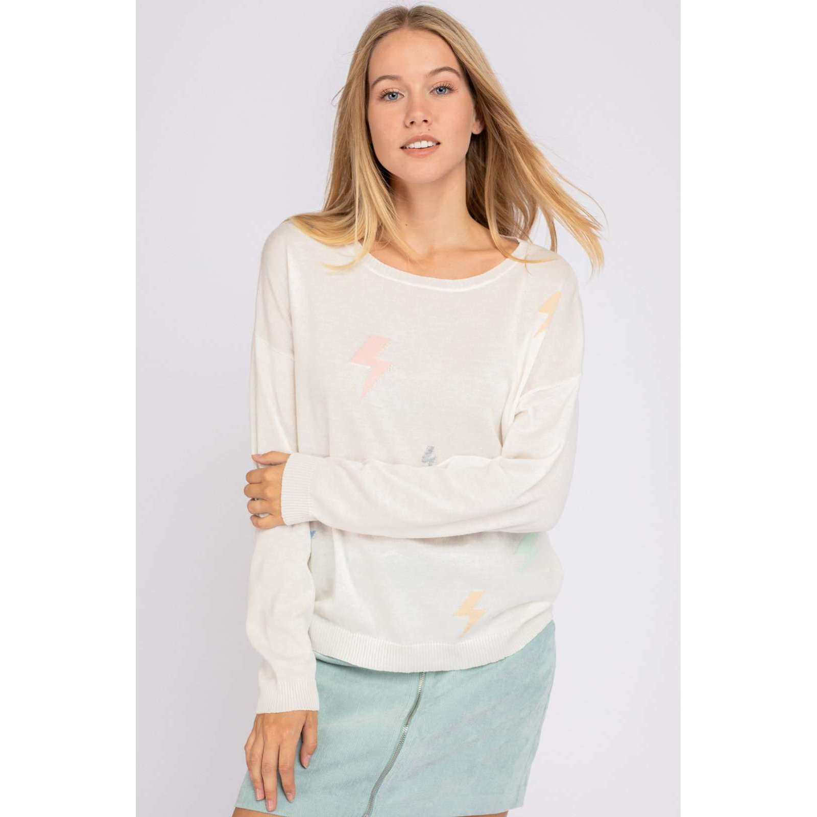8.28 Boutique:8.28 Boutique,Le Lis Lightning Sweater,Tops