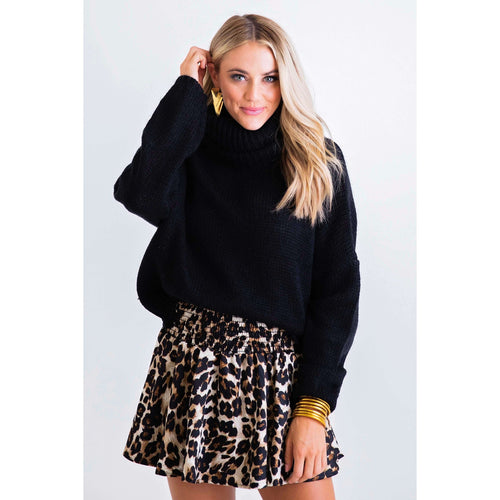 8.28 Boutique:Karlie Clothes,Karlie Clothes Leopard Smocked Waist Skort,Bottoms