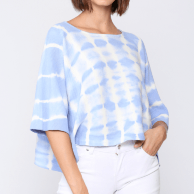 8.28 Boutique:8.28 Boutique,FATE by LFD Quarter Length Sleeve Tie Dye Shirt,Tops