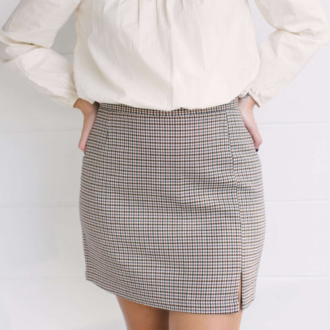 Bishop + Young Sara Hanky Seersucker Hem Skirt