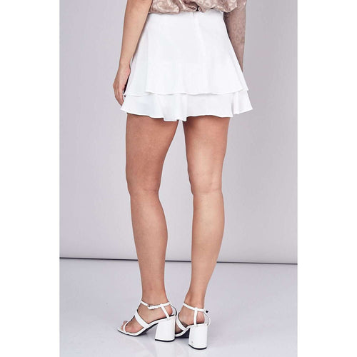 DO + BEBottomsDO + BE Ruffle White Skort