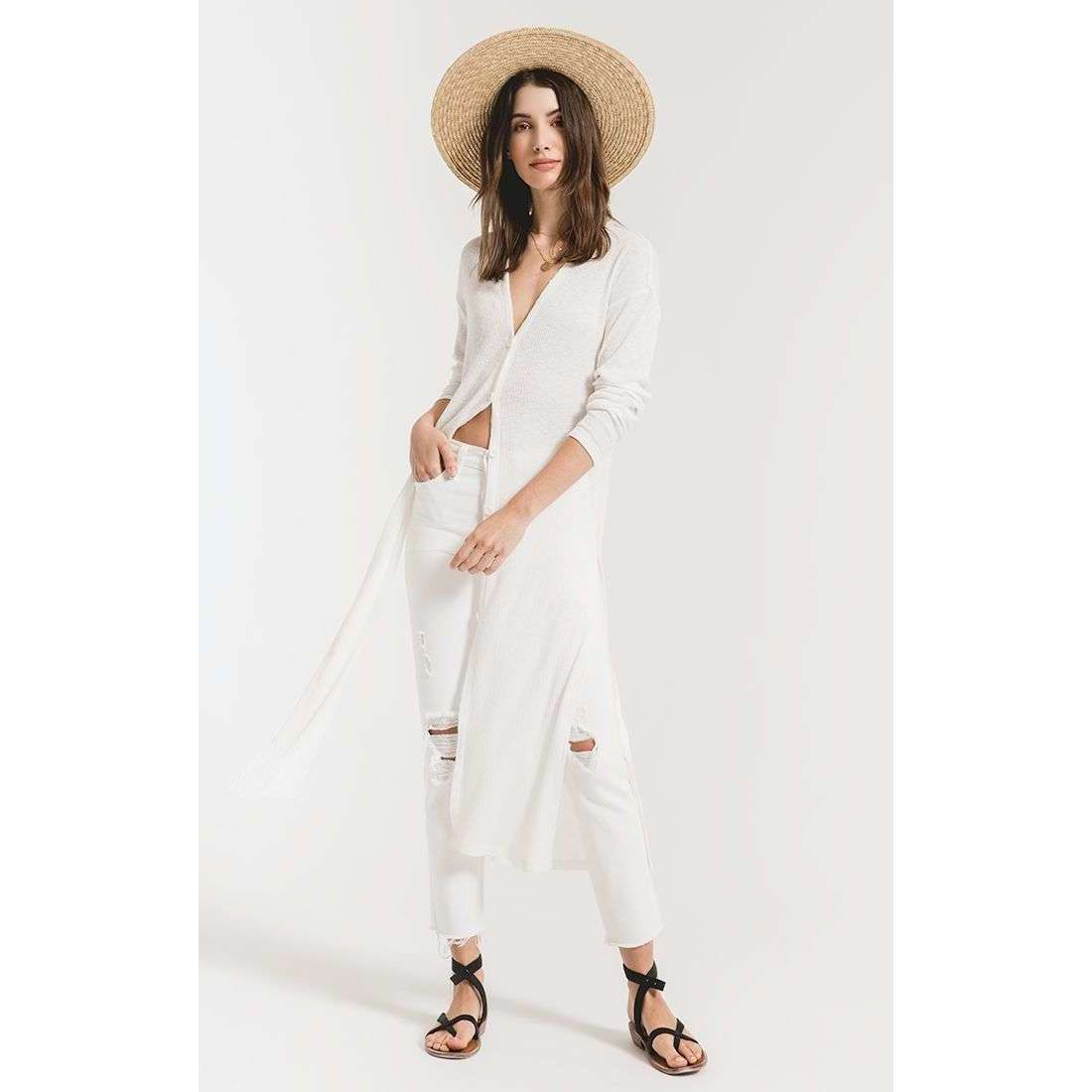 8.28 Boutique:Z-Supply,Z-Supply Textured Rib Duster Cardigan,Top