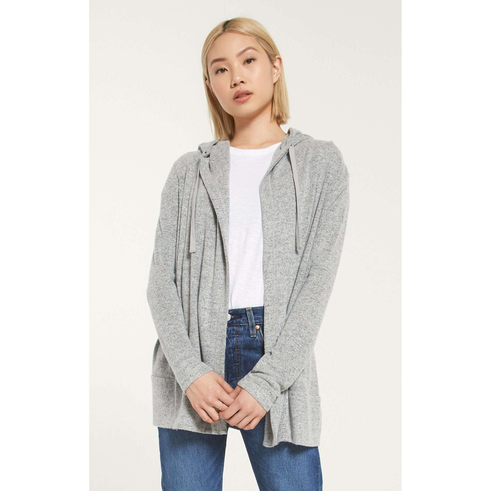 8.28 Boutique:Z-Supply,Z-Supply Clay Marled Cardigan,Outerwear