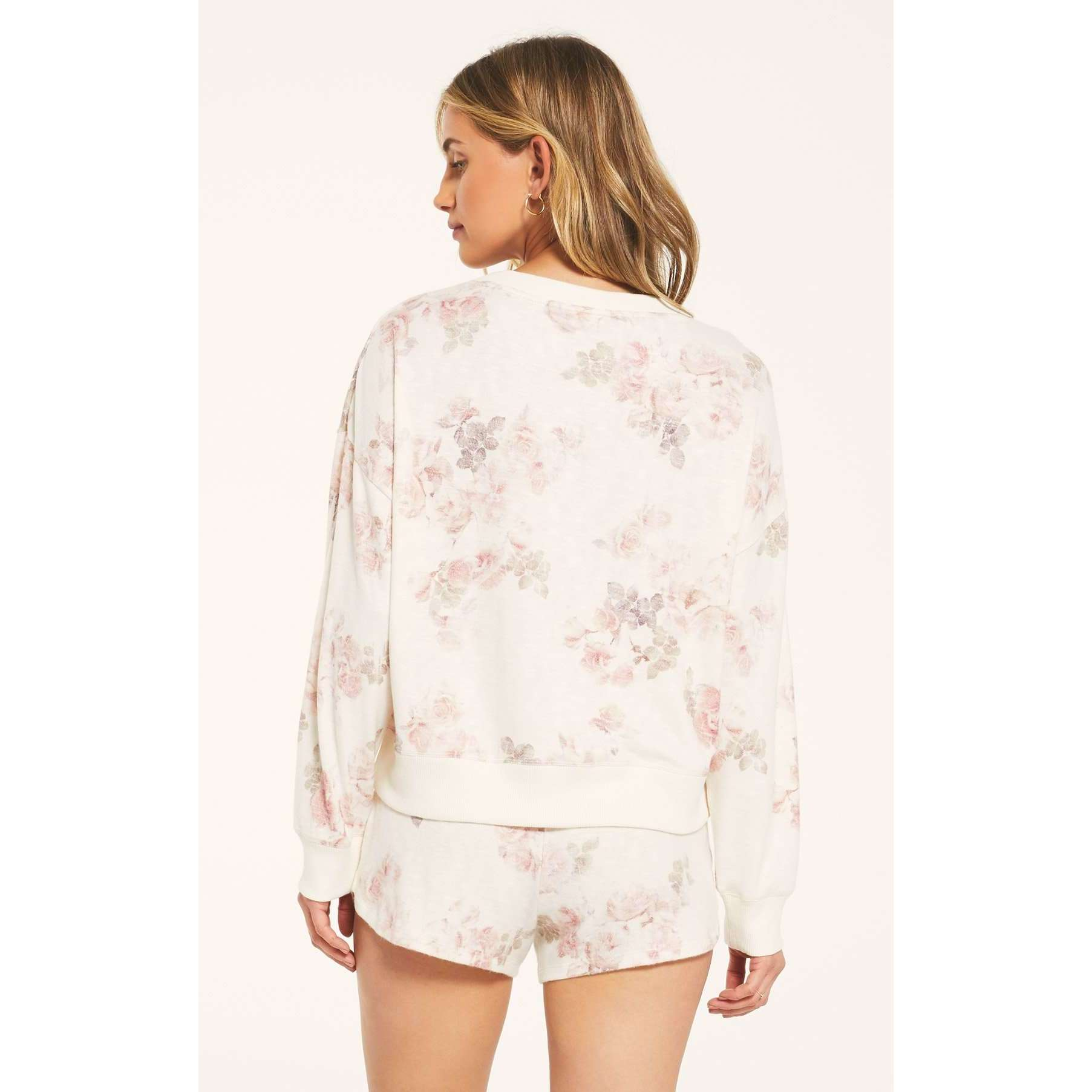 8.28 Boutique:Z-Supply,Z-Supply Elle Floral Long Sleeve Pullover,Bottoms