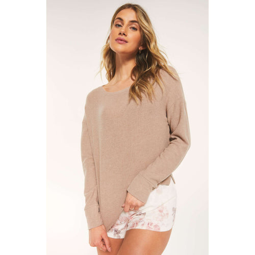 8.28 Boutique:Z-Supply,Z-Supply Leila Rib Long Sleeve Tee,Tops