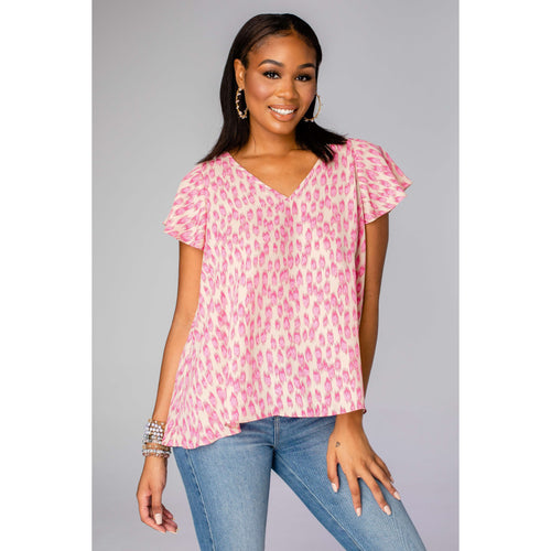 8.28 Boutique:Buddy Love,Buddy Love Avril Pink Lady Top,Tops