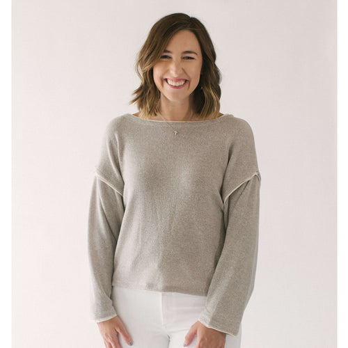 8.28 Boutique:By Together,By Together the Natalie Taupe Sweater,