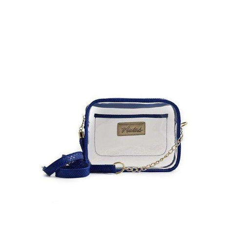8.28 Boutique:Klutch Handbags,Klutch Handbags Stadium Bag with Blue Trim,Purse