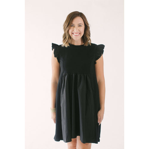 8.28 Boutique:English Factory,English Factory Keeping it Simple Black Dress,Dress