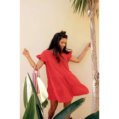 8.28 Boutique:Sage the Label,Sage the Label Red Coco Dress,Dress