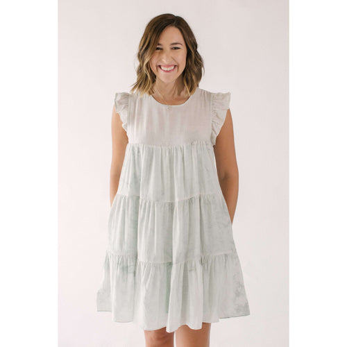 8.28 Boutique:Free the Roses,Free the Roses Tie-Dye Babydoll Dress,Dress