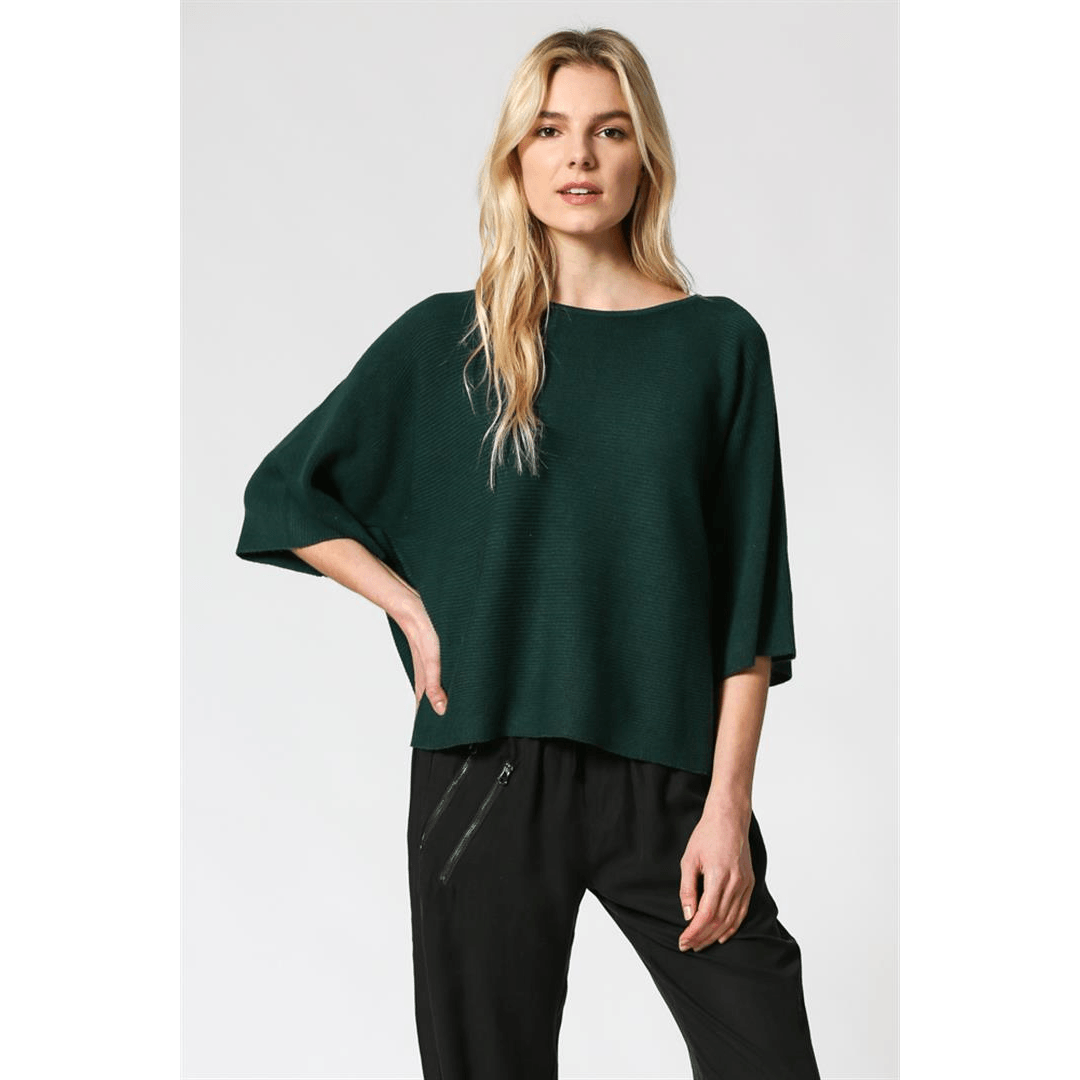 8.28 Boutique:8.28 Boutique,FATE by LFD Quarter Length Hunter Green Sweater,Sweaters