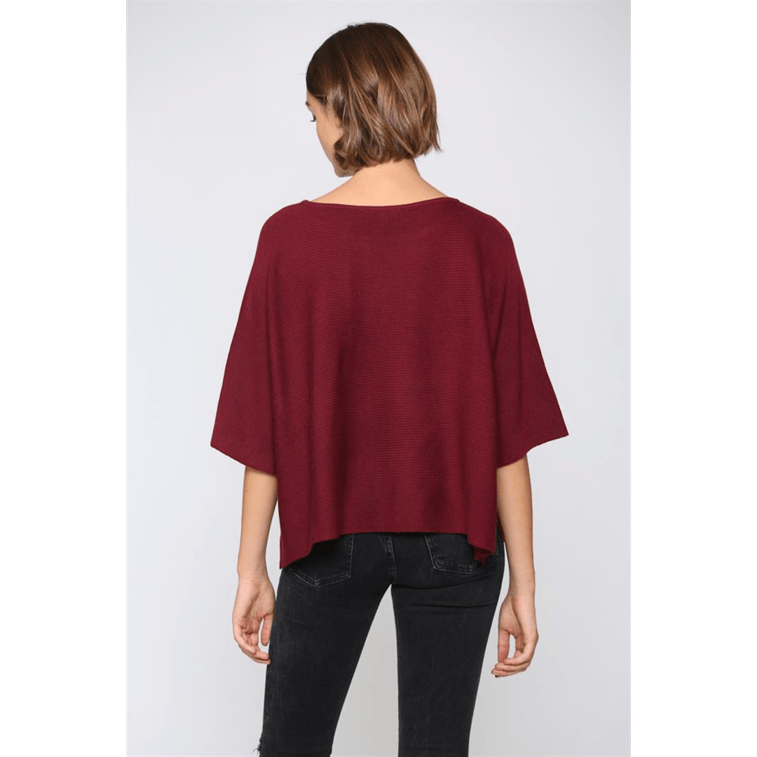 8.28 BoutiqueTopsFate by LFD Burgundy Sweater
