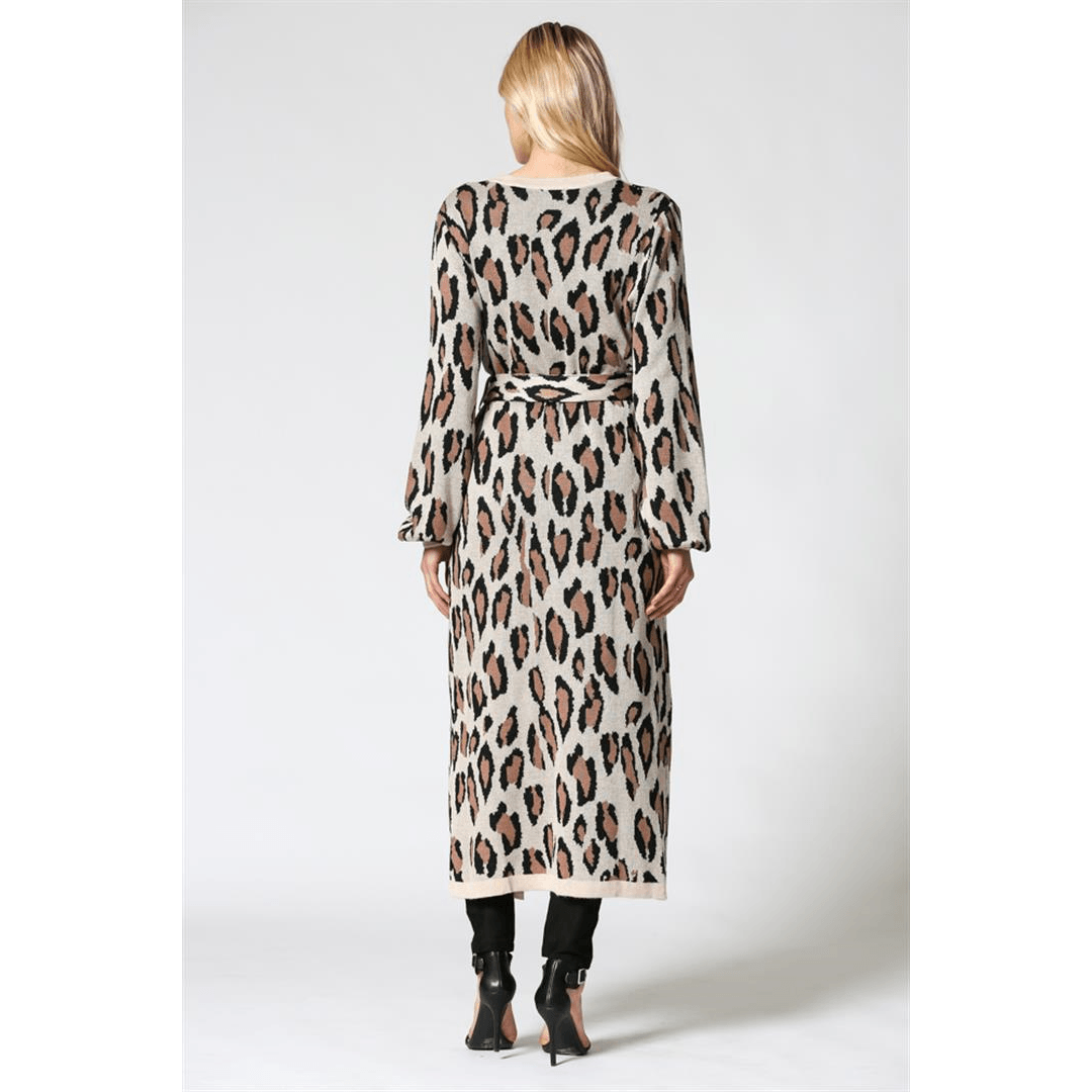 8.28 Boutique:8.28 Boutique,Fate by LFD Cheetah Print Long Cardigan,Outerwear
