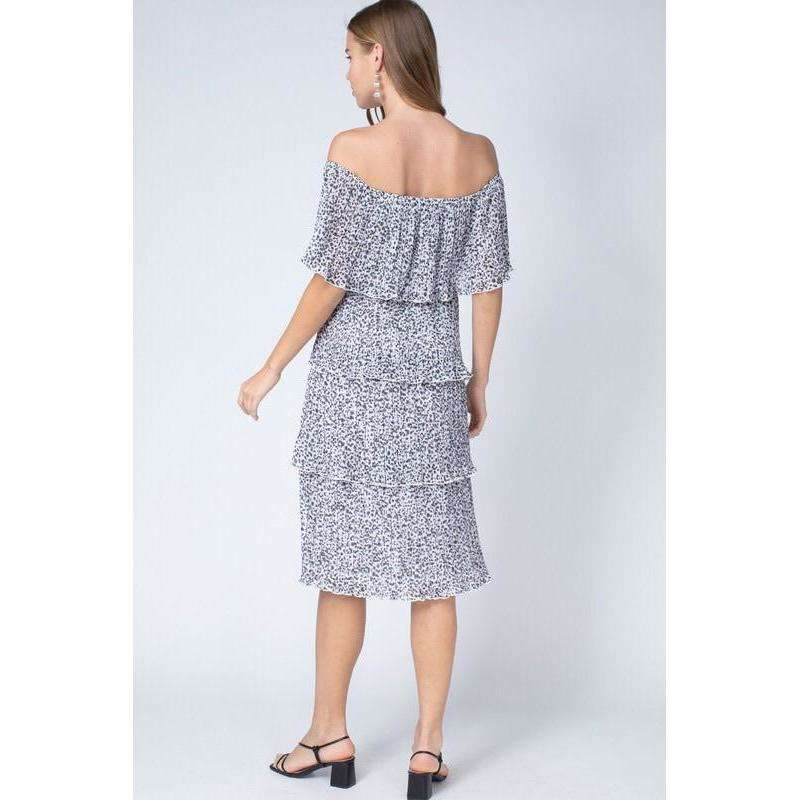 8.28 Boutique:8.28 Boutique.,The Grace Tiered Ruffle Dress,Dress