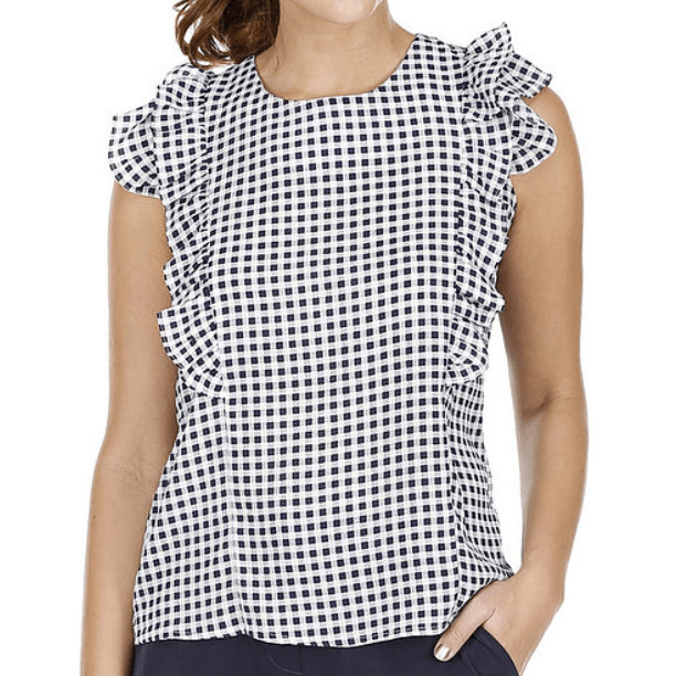 8.28 Boutique:Joy*Joy,Joy*Joy Blue Checkered Top,Tops
