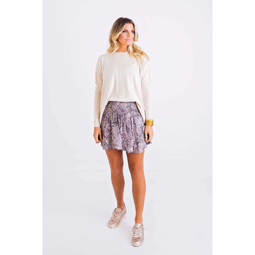 8.28 Boutique:Karlie Clothes,Karlie Clothes Snakeskin Smocked Waist Skort,Bottoms