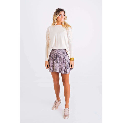 By Together the Natalie Taupe Sweater