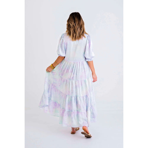 8.28 Boutique:Karlie Clothes,Karlie Clothes Tie-Dye Print Tiered Maxi Dress,Dress