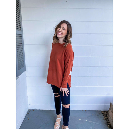 8.28 Boutique:Kerisma Knits,Kerisma Knits Monty Sweater in Auburn,Sweaters