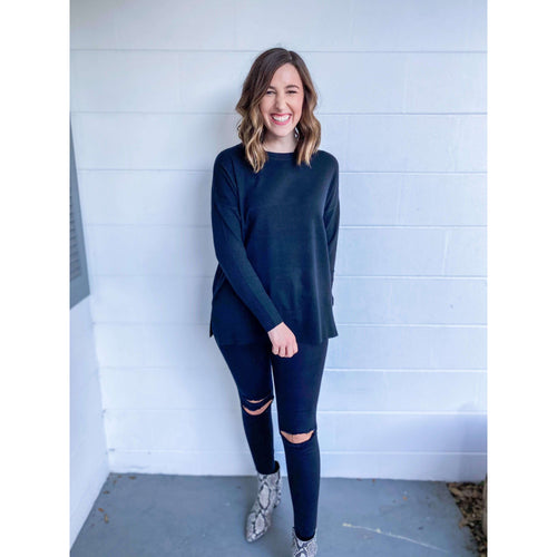 8.28 Boutique:Kerisma Knits,Kerisma Knits Monty Sweater in Black,Sweaters