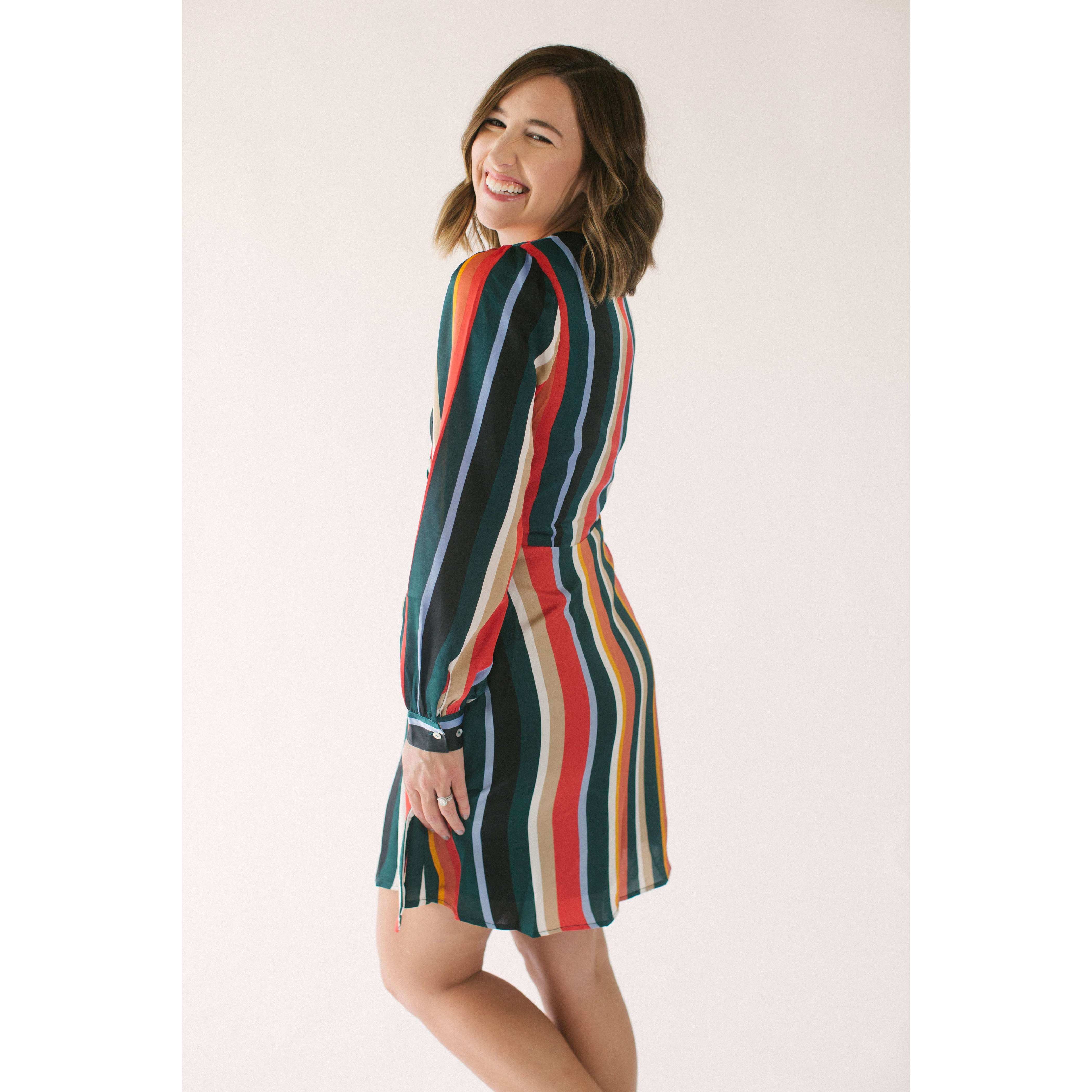 8.28 Boutique:LUCY PARIS,Lucy Paris Bethany Stripe Dress,Dress