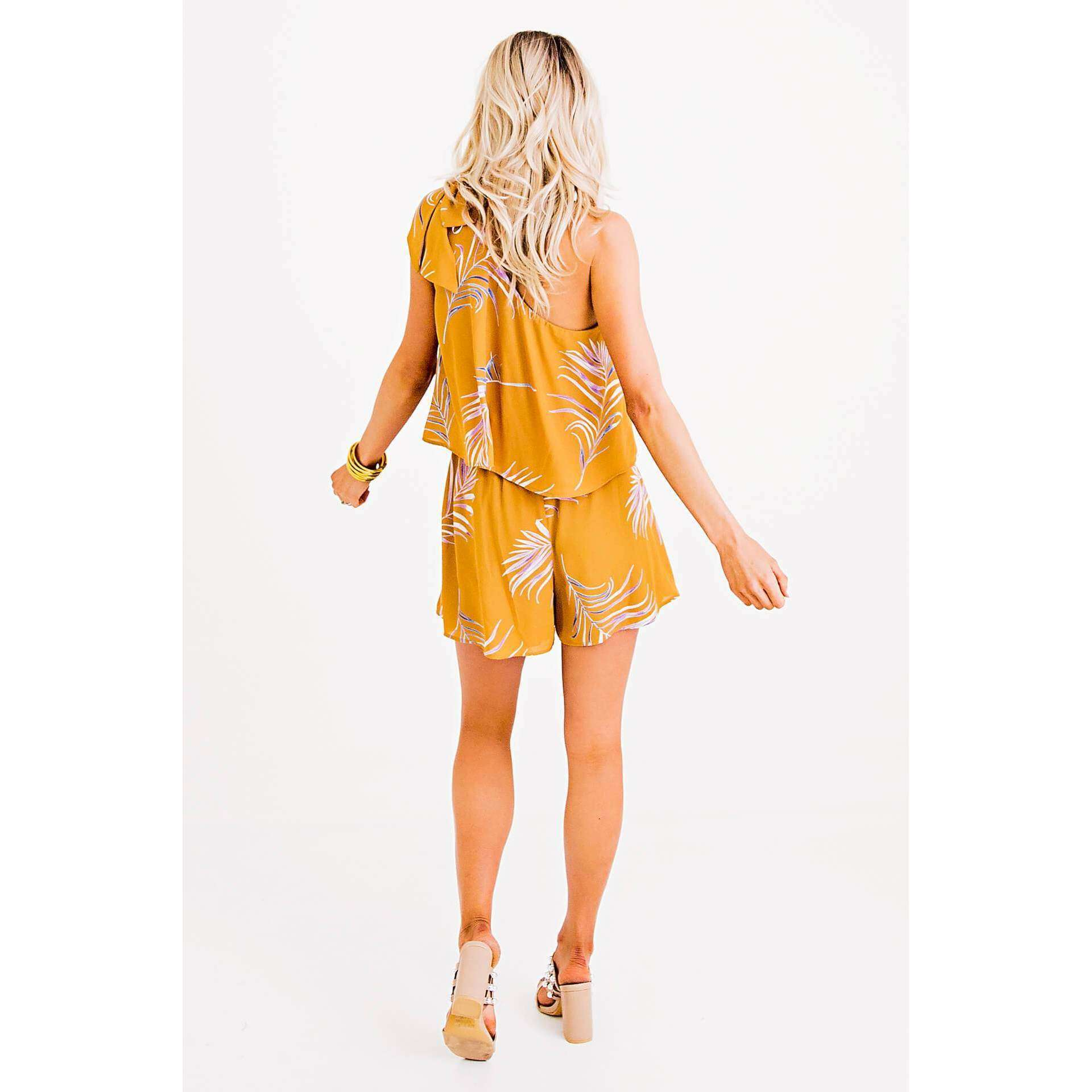8.28 Boutique:Karlie Clothes,Karlie Clothes One Shoulder Tie Romper,Rompers