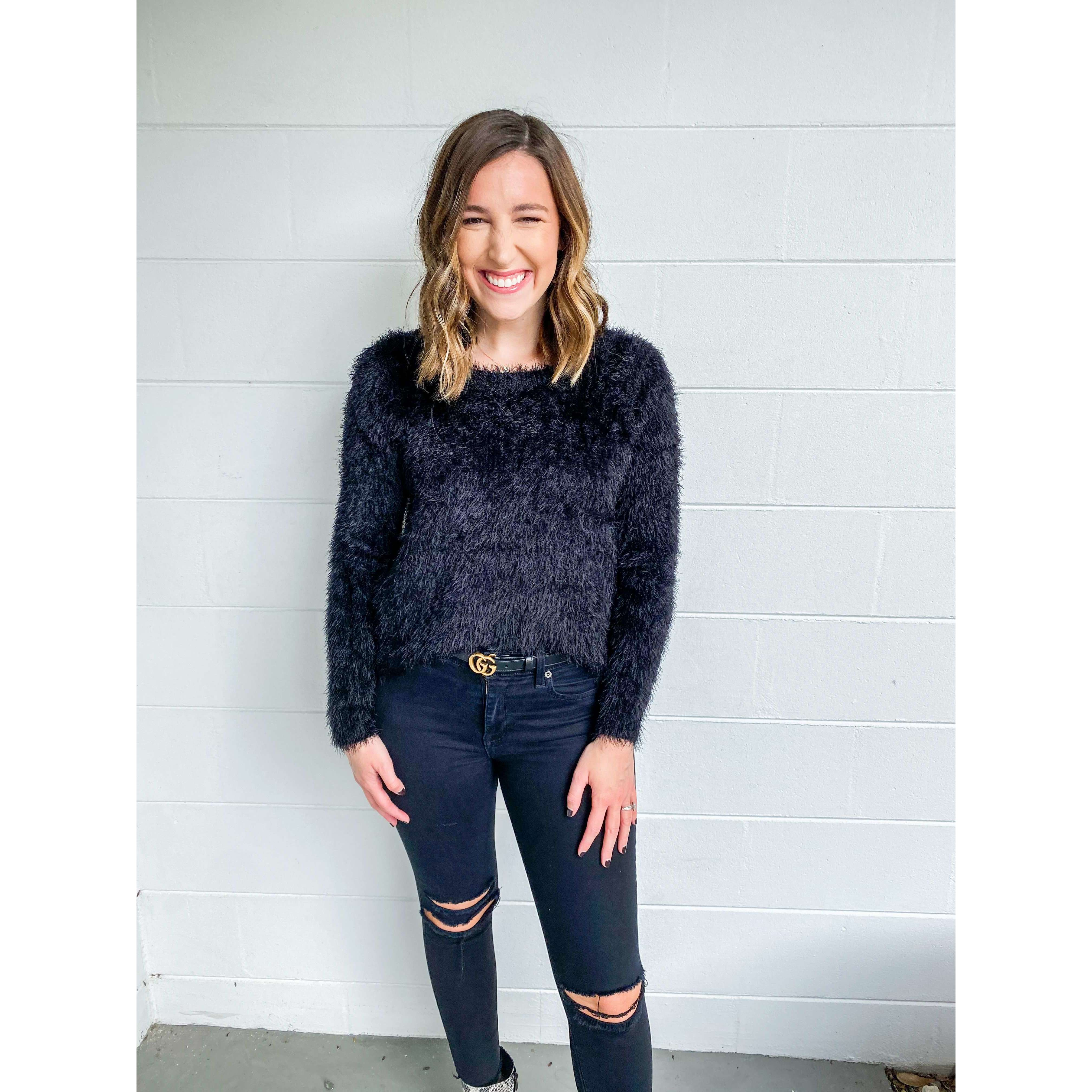 8.28 Boutique:Sadie & Sage,Sadie & Sage Kari Furry Sweater in Black,Sweaters