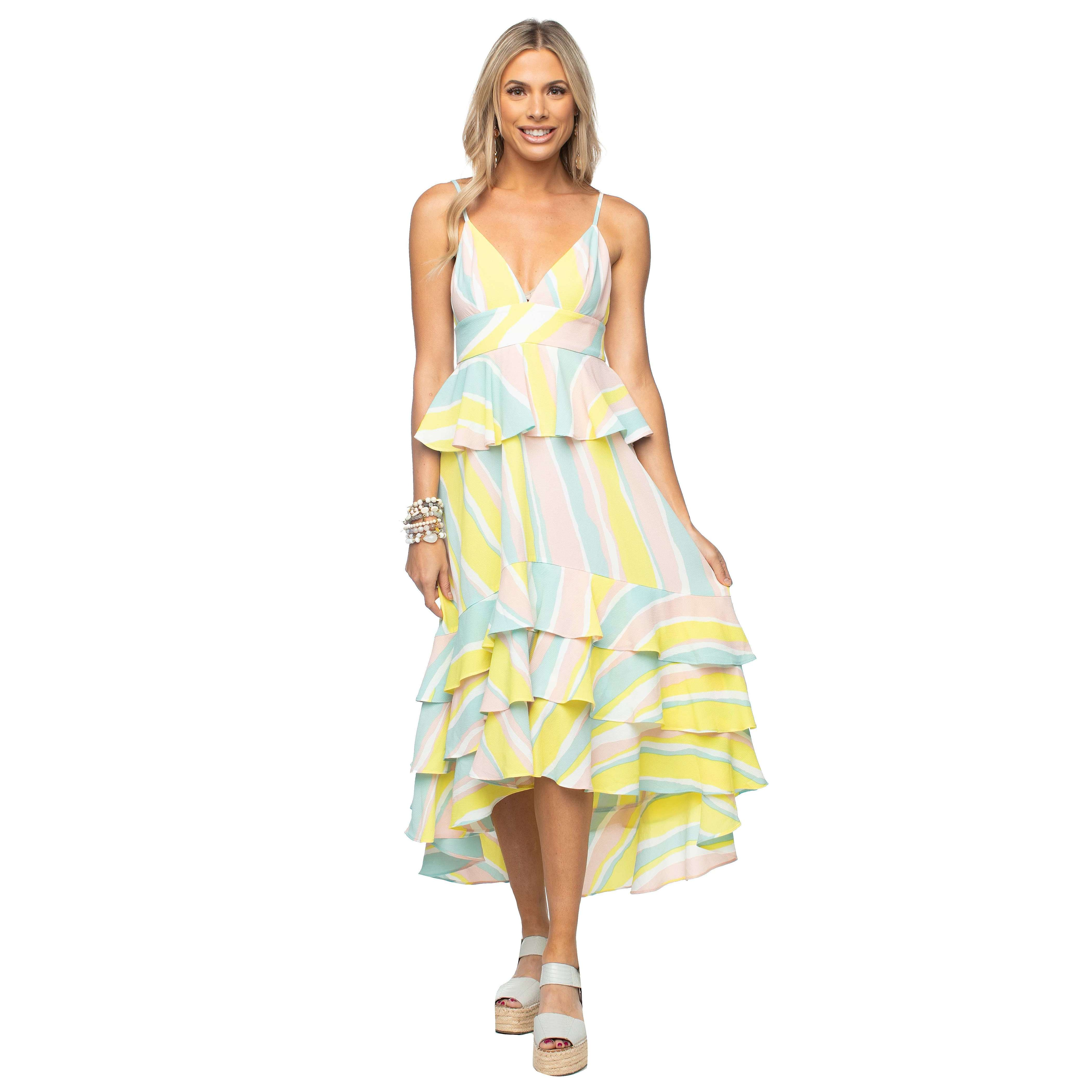 8.28 Boutique:Buddy Love,Buddy Love Georgia Lemonade Tiered Dress,Dress