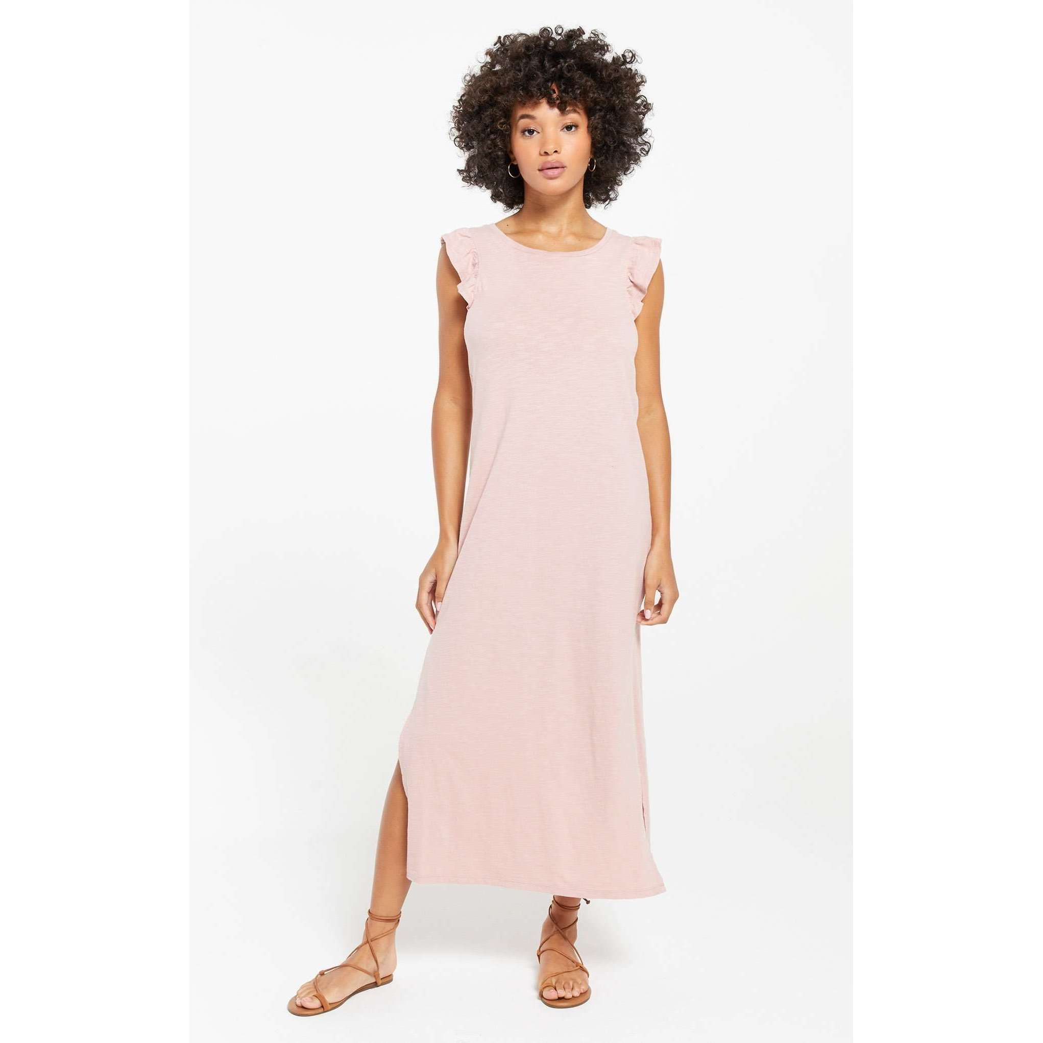 8.28 Boutique:Z-Supply,Z-Supply Blakely Slub Ruffle Dress,Dress