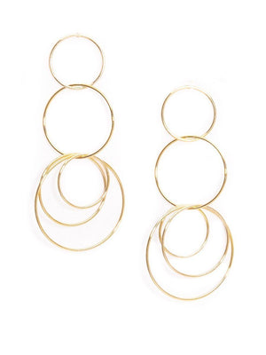 Delicate Multi Hoop Drop Earring