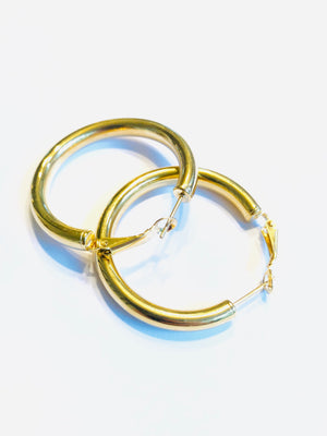 The Perfect Gold Hoops