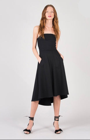 Strapless Fit and Flare Midi Dress