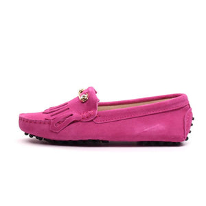 MIYAGINA Leather Women Comfortable Flats Loafers Driving Shoes