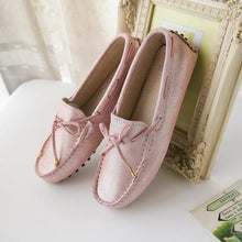 MIYAGINA Women Flats Handmade Leather Moccasin Driving Shoes