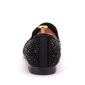 OneDrop Handmade Men Dress Shoes Suede Rhinestone Crystal Slippers Prom Wedding Party Loafers