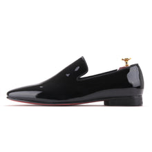 OneDrop Handmade Men Black Patent Leather Party Wedding Prom Banquet Loafers